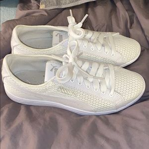 Puma white sneakers size 7 women's